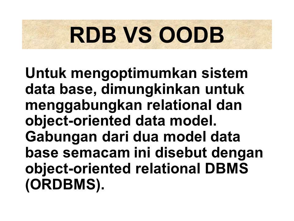RDB VS OODB