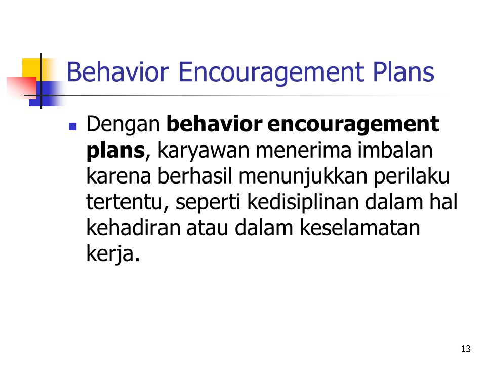 Behavior Encouragement Plans