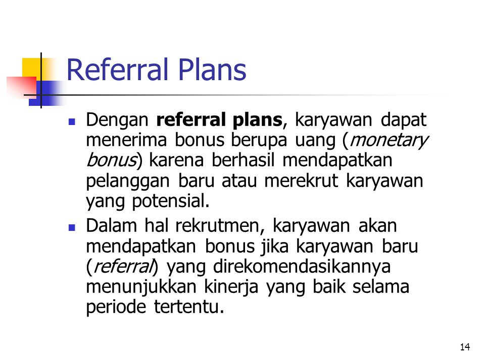 Referral Plans