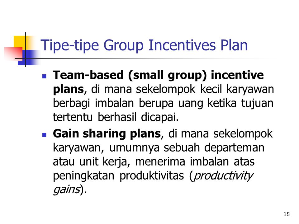 Tipe-tipe Group Incentives Plan