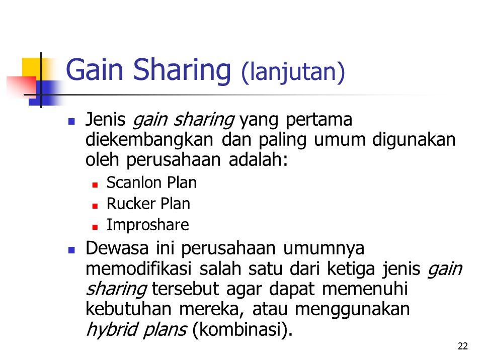 Gain Sharing (lanjutan)