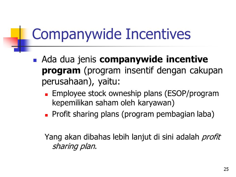 Companywide Incentives
