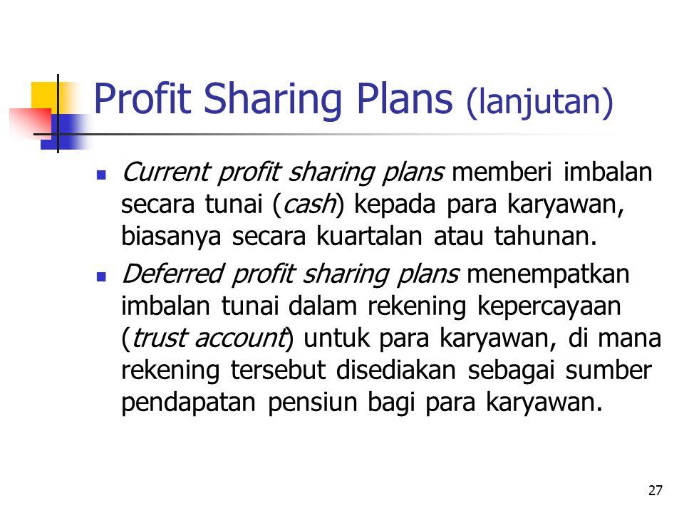 Profit Sharing Plans (lanjutan)