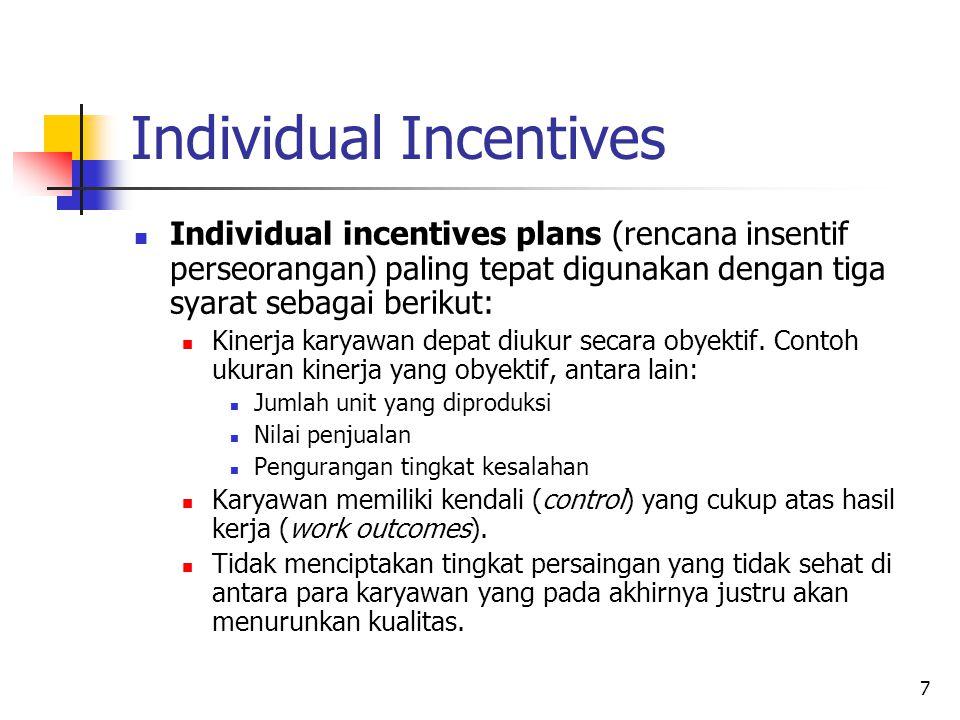 Individual Incentives