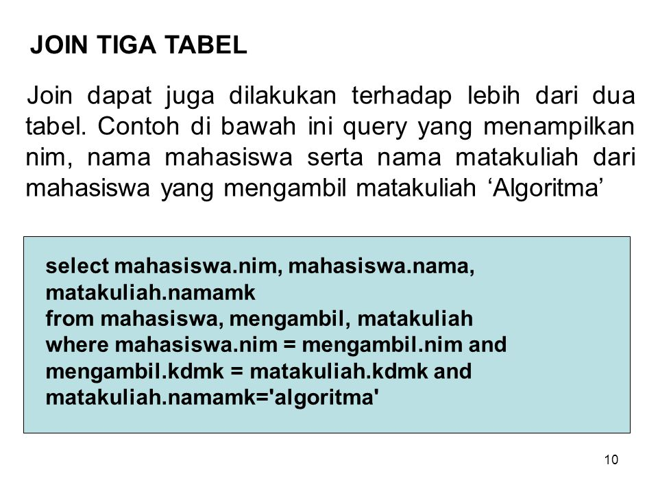 JOIN TIGA TABEL