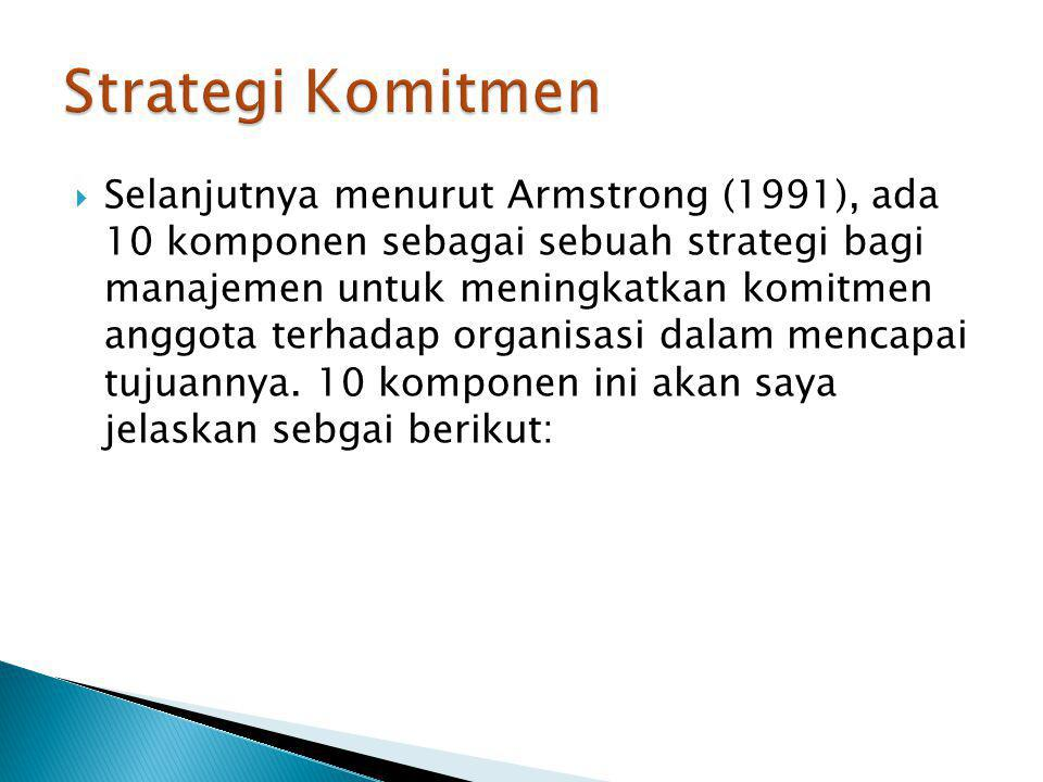 Strategi Komitmen