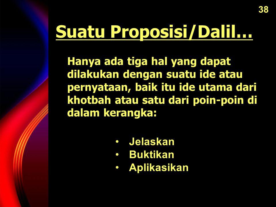 Suatu Proposisi/Dalil…