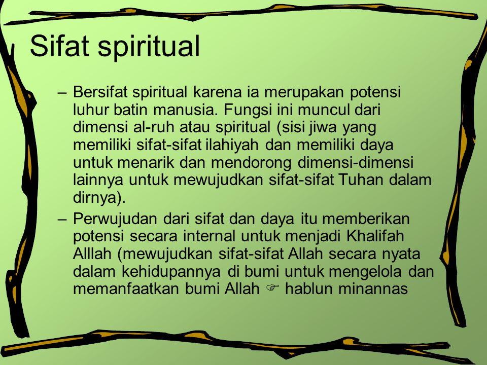 Sifat spiritual