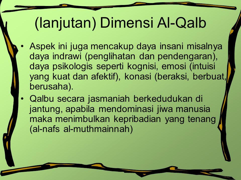(lanjutan) Dimensi Al-Qalb