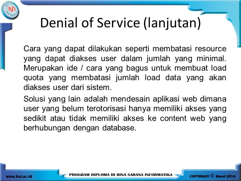 Denial of Service (lanjutan)