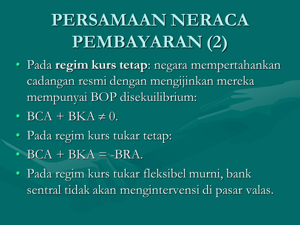 PERSAMAAN NERACA PEMBAYARAN (2)