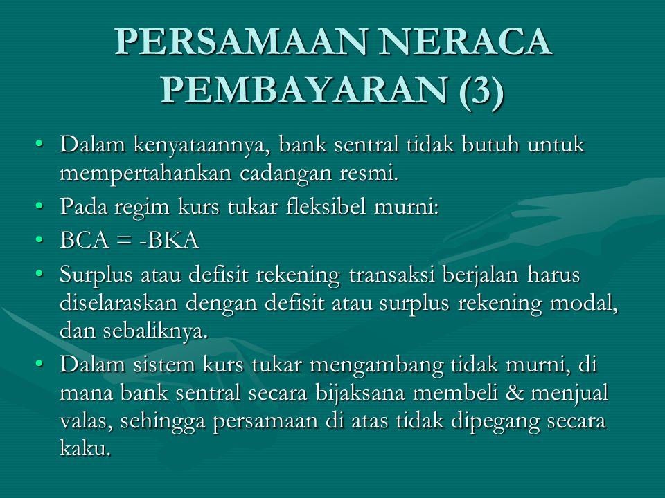 PERSAMAAN NERACA PEMBAYARAN (3)