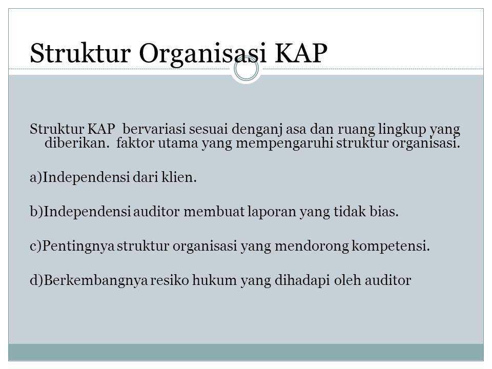 Struktur Organisasi KAP