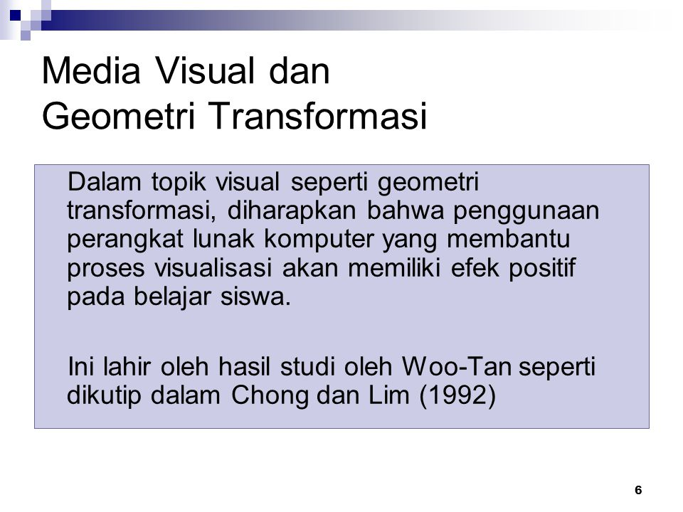 Media Visual dan Geometri Transformasi