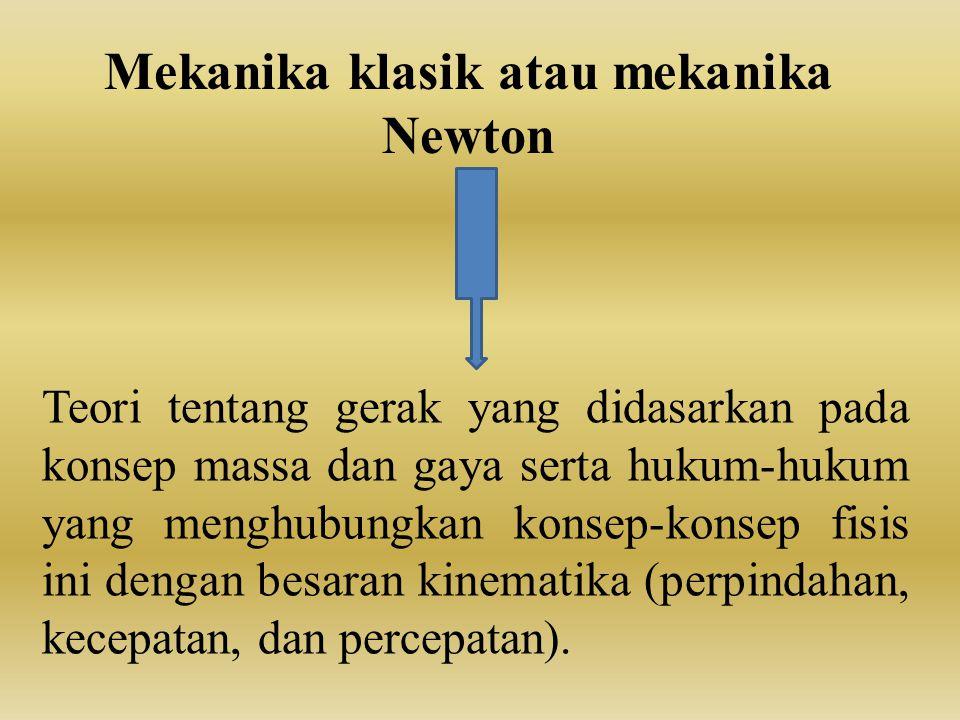 Mekanika klasik atau mekanika Newton