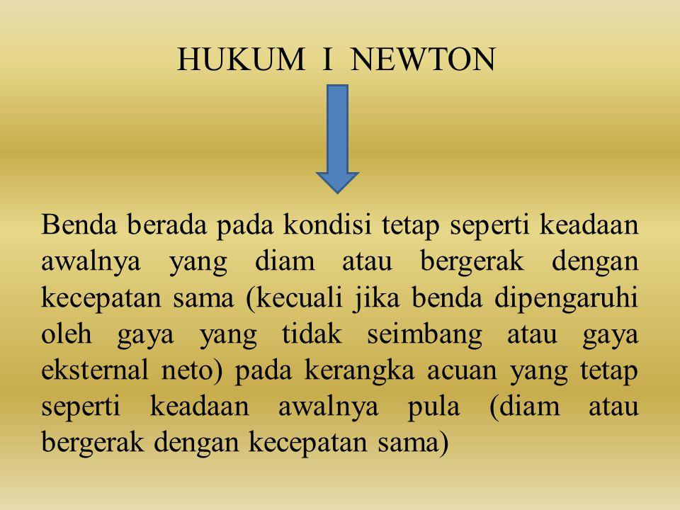 HUKUM I NEWTON