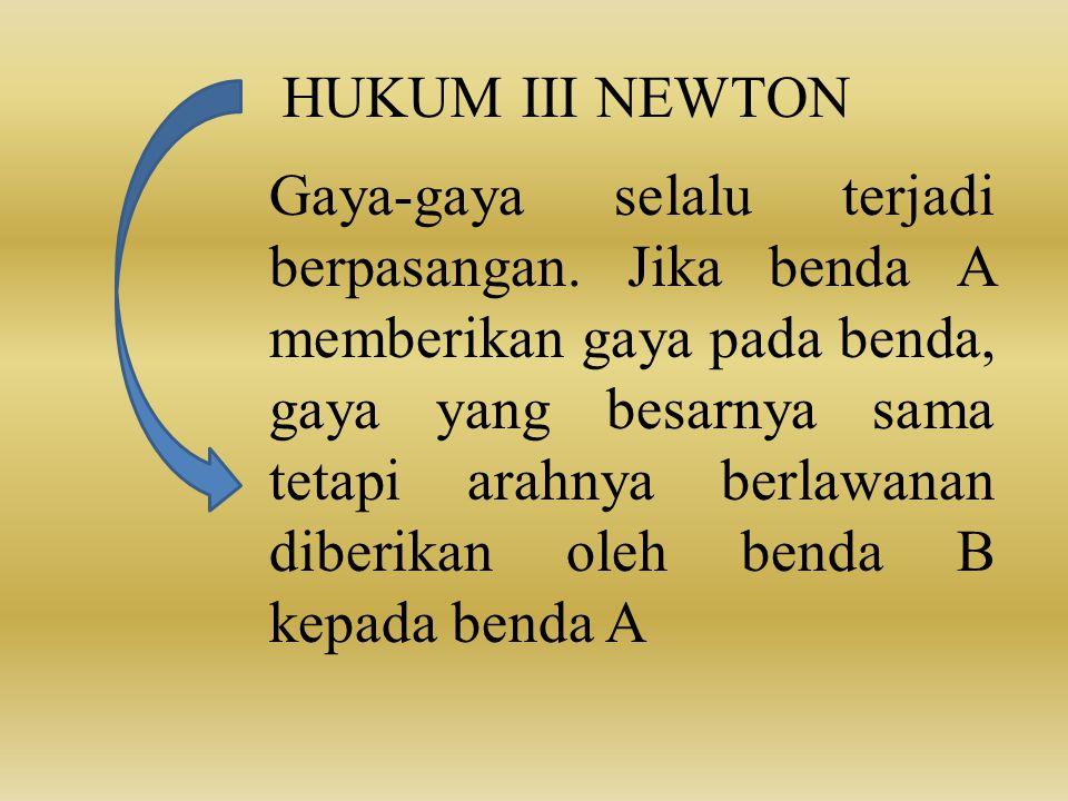 HUKUM III NEWTON