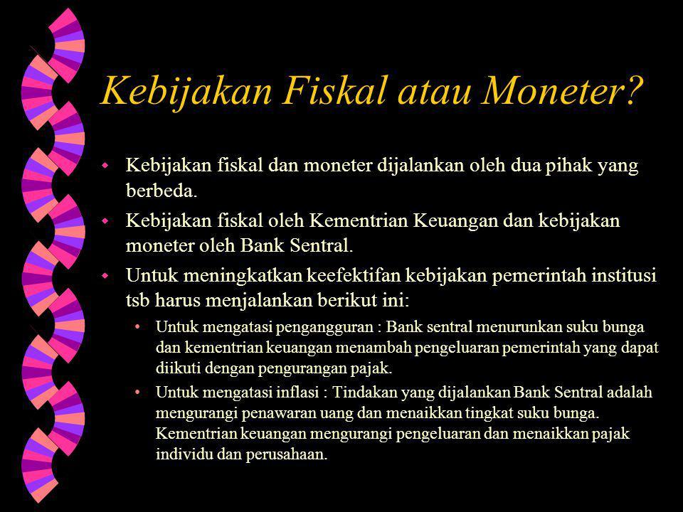 Kebijakan Fiskal atau Moneter