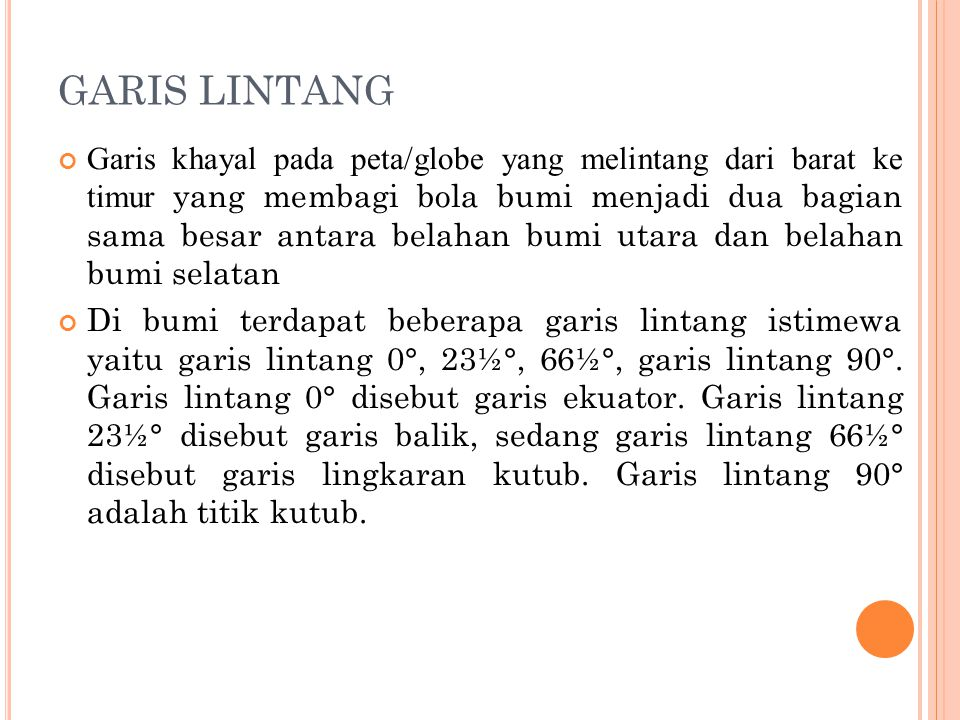 GARIS LINTANG