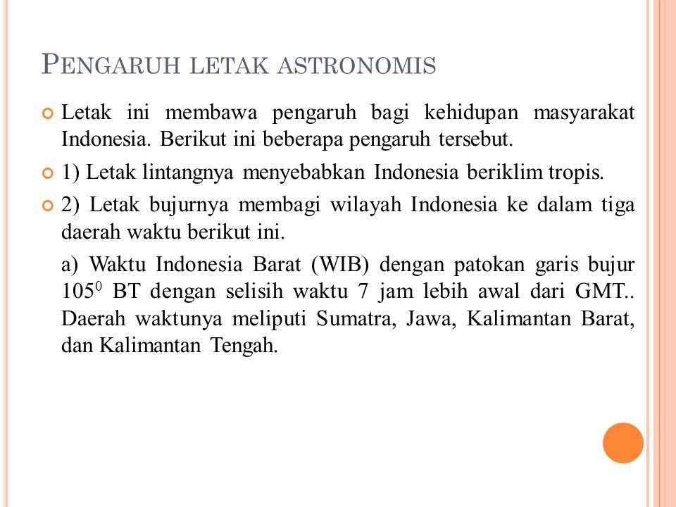 Pengaruh letak astronomis