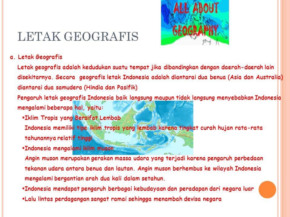 LETAK GEOGRAFIS a. Letak Geografis