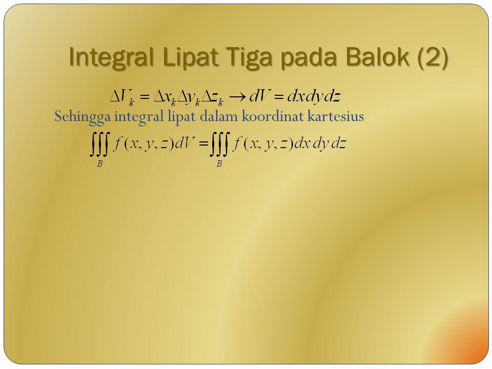 Integral Lipat Tiga pada Balok (2)