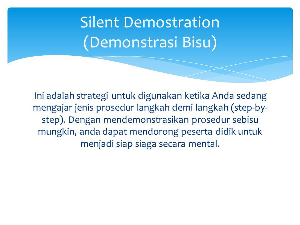 Silent Demostration (Demonstrasi Bisu)