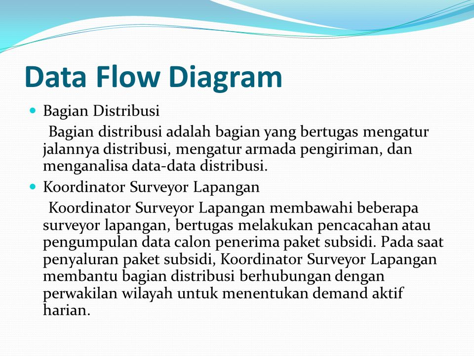 Data Flow Diagram Bagian Distribusi