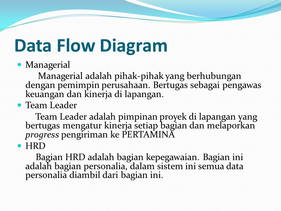 Data Flow Diagram Managerial