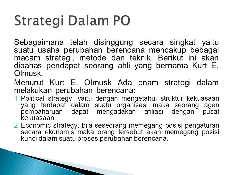 Strategi Dalam PO