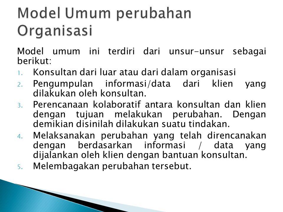 Model Umum perubahan Organisasi