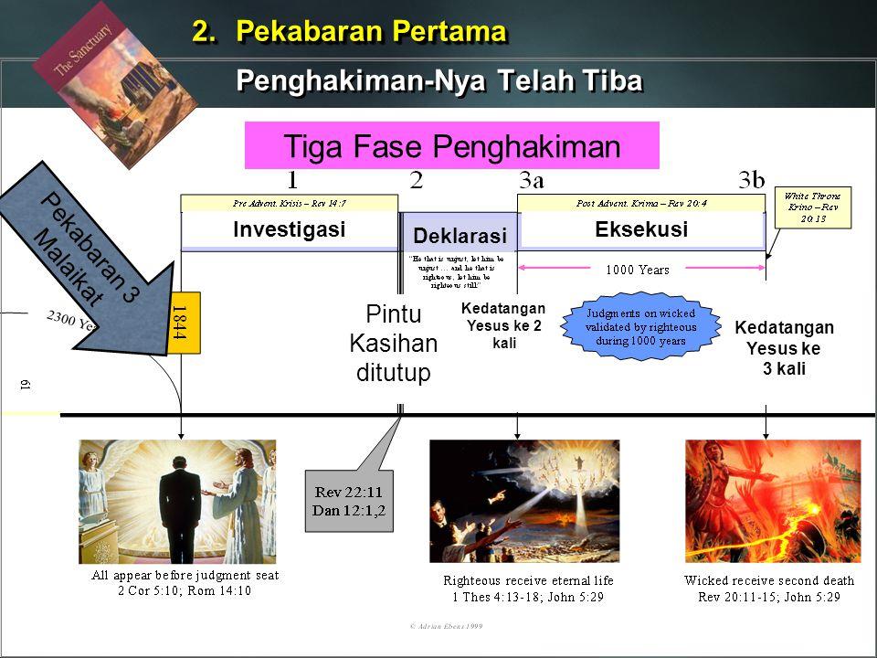 Kedatangan Yesus ke 2 kali The Three Phases of the Judgment