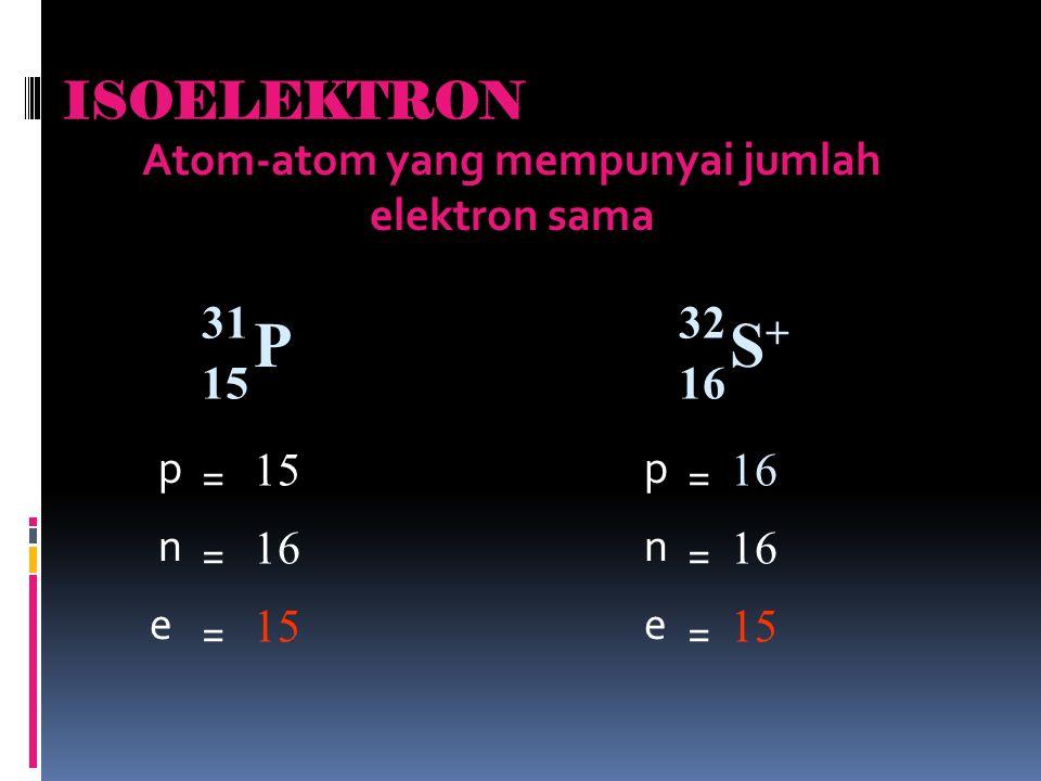 Atom-atom yang mempunyai jumlah elektron sama