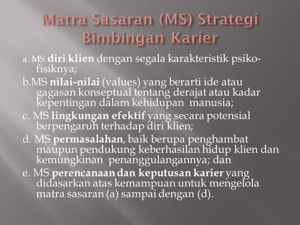 Matra Sasaran (MS) Strategi Bimbingan Karier