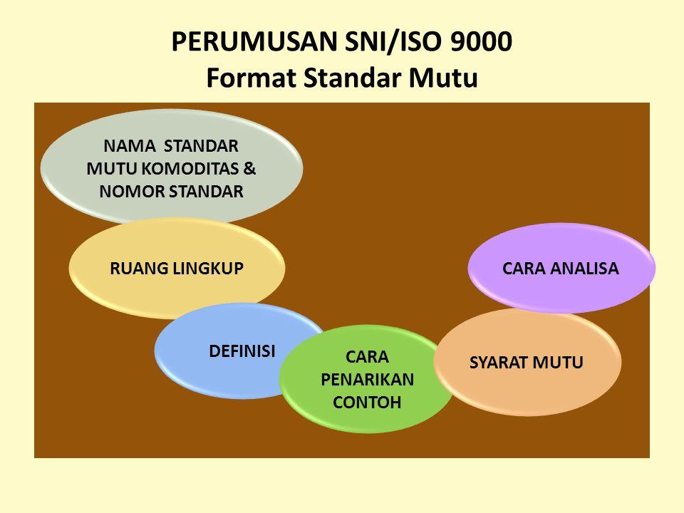 PERUMUSAN SNI/ISO 9000 Format Standar Mutu
