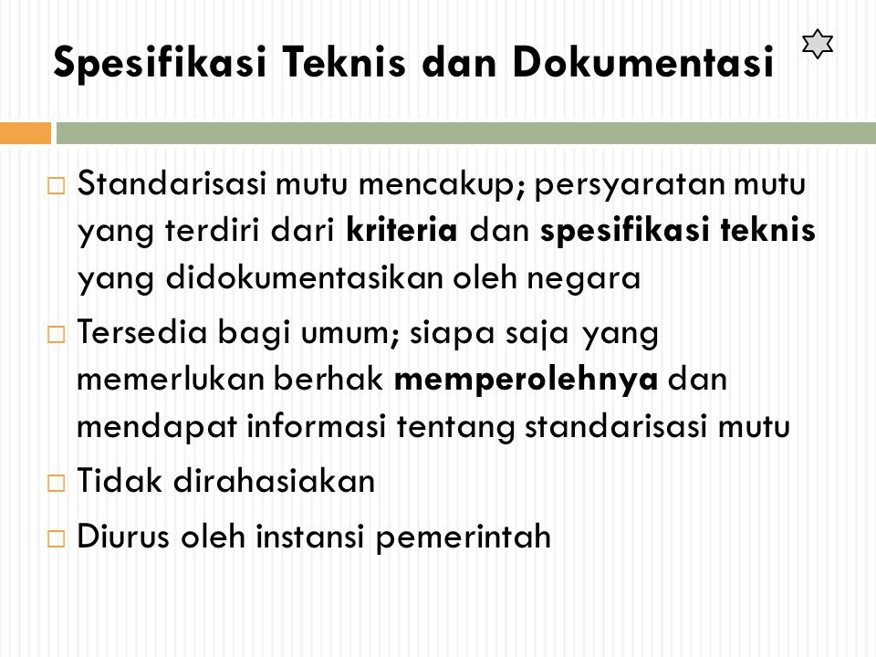 Spesifikasi Teknis dan Dokumentasi