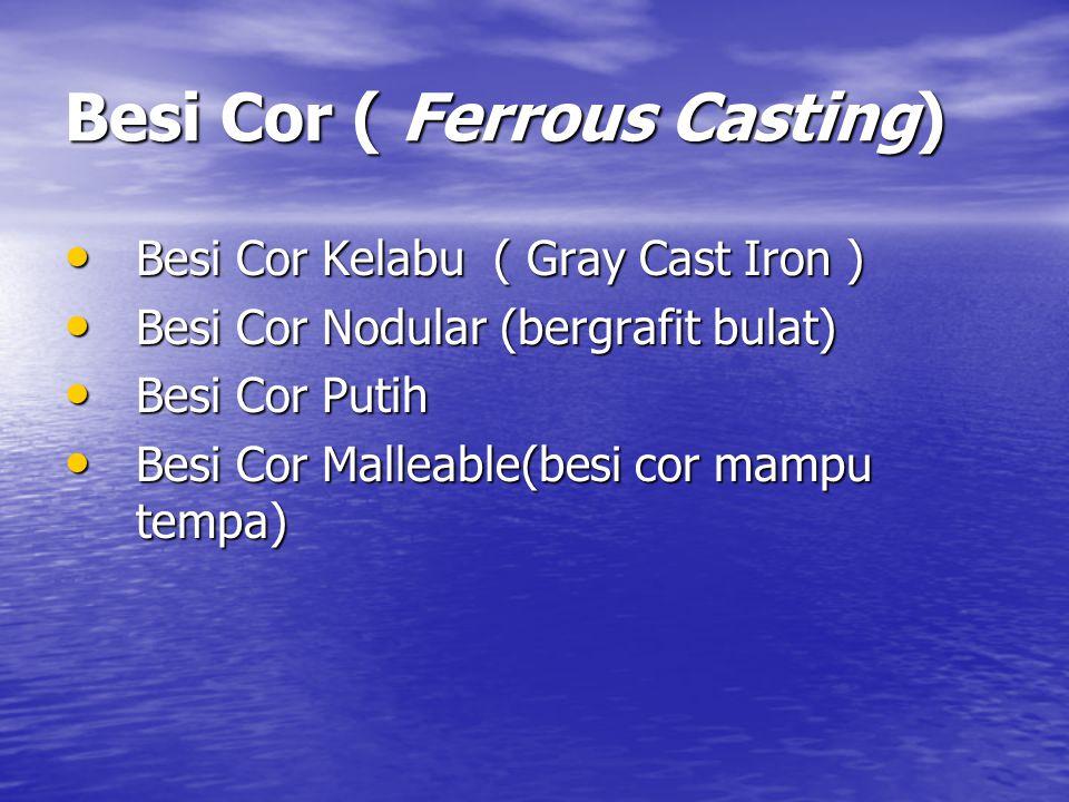Besi Cor ( Ferrous Casting)