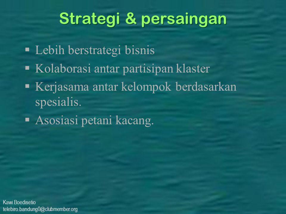 Strategi & persaingan Lebih berstrategi bisnis