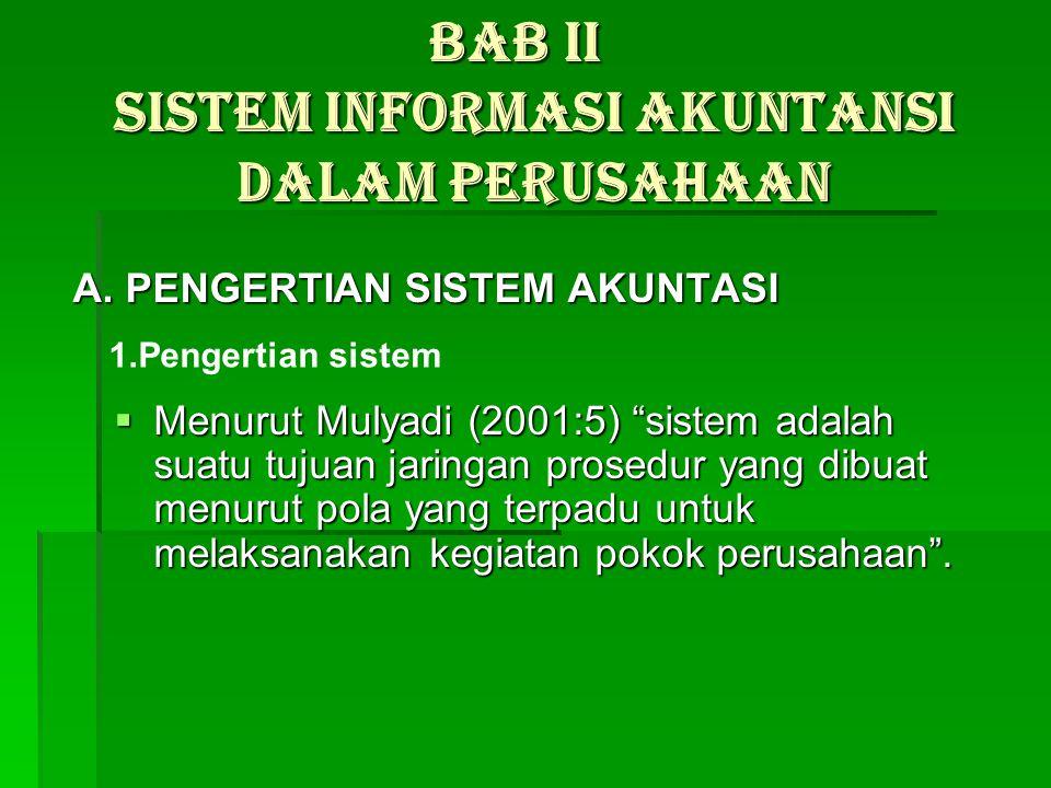 BAB II Sistem Informasi Akuntansi Dalam Perusahaan