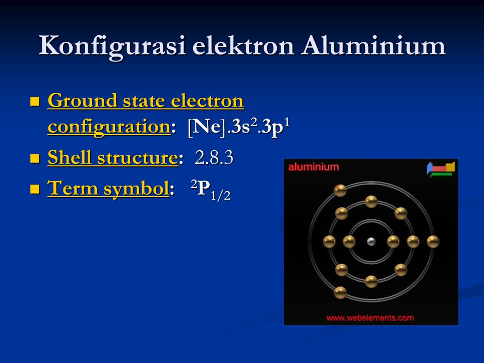 Konfigurasi elektron Aluminium