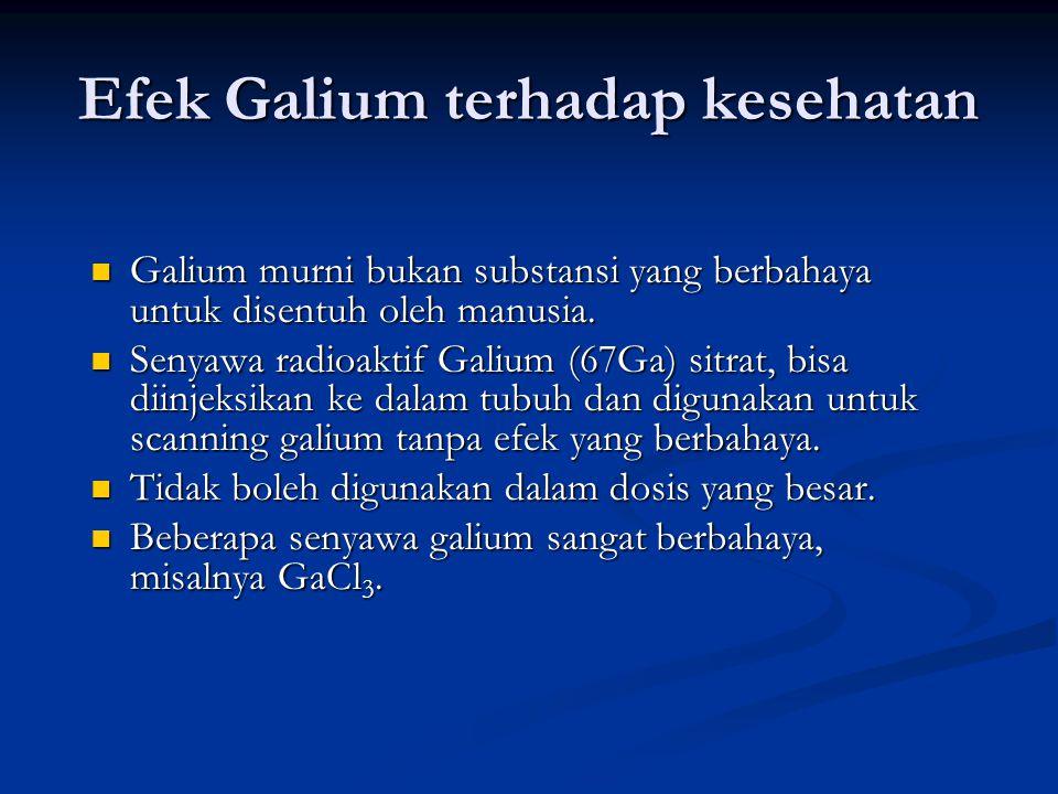 Efek Galium terhadap kesehatan