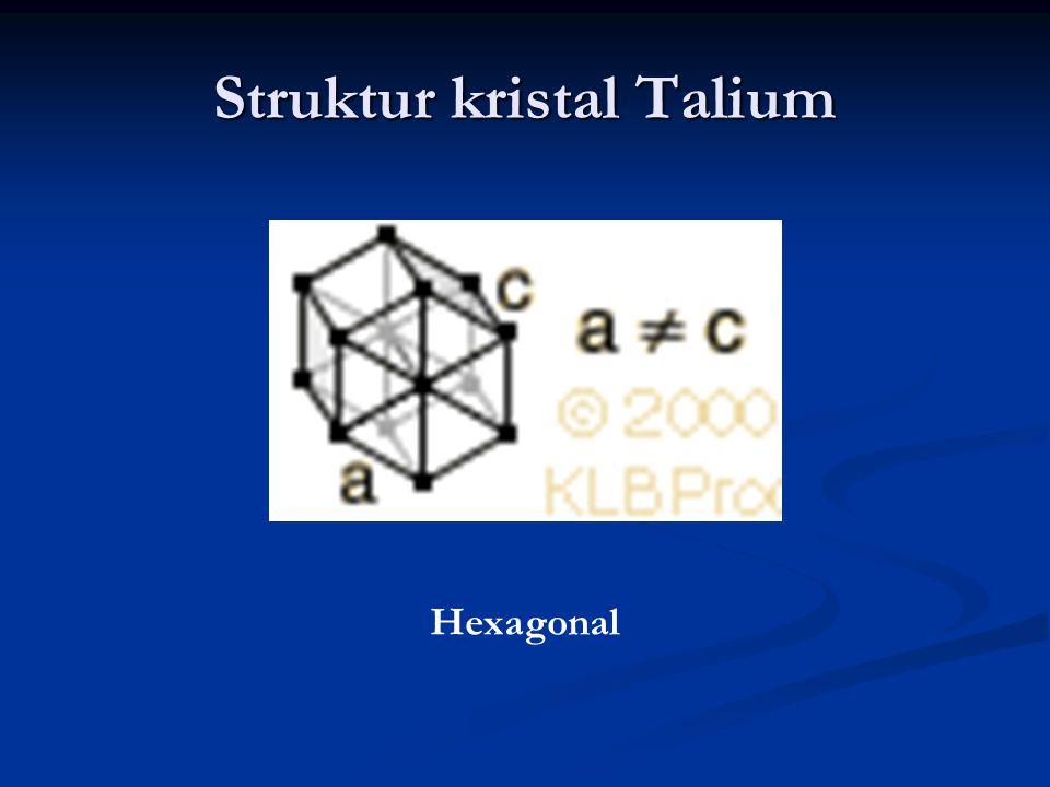 Struktur kristal Talium