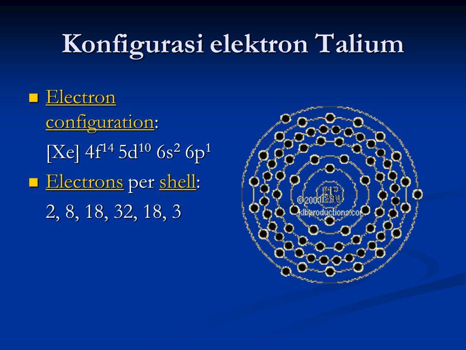 Konfigurasi elektron Talium