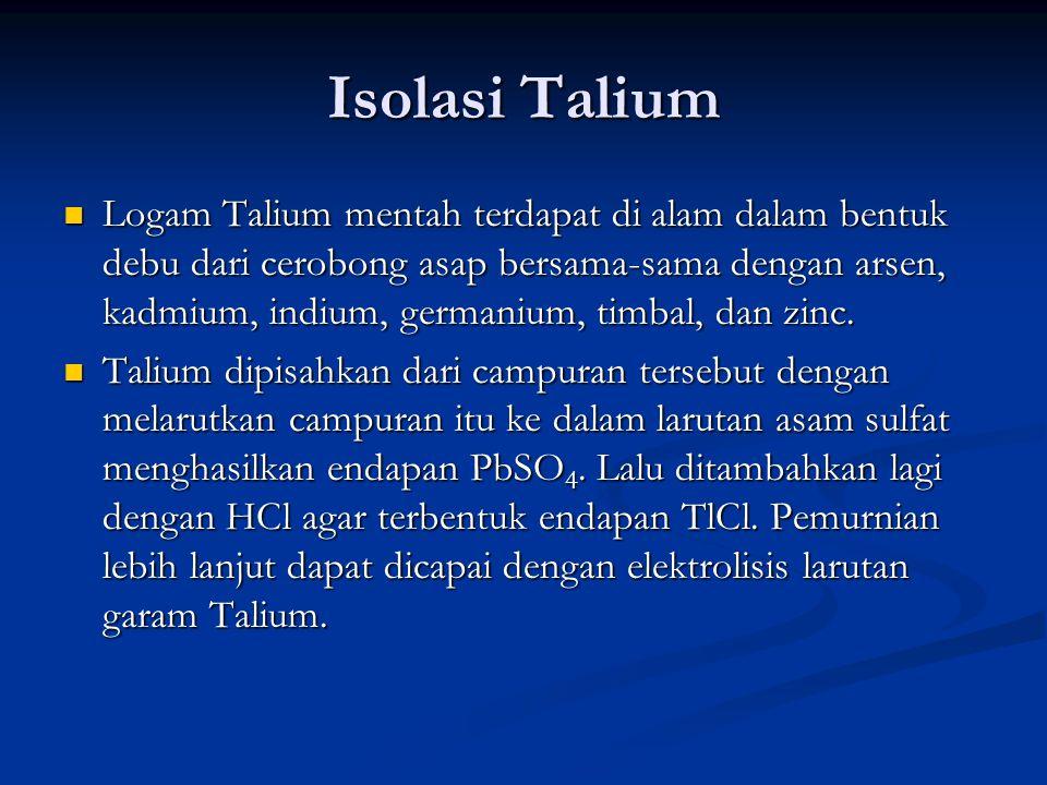 Isolasi Talium