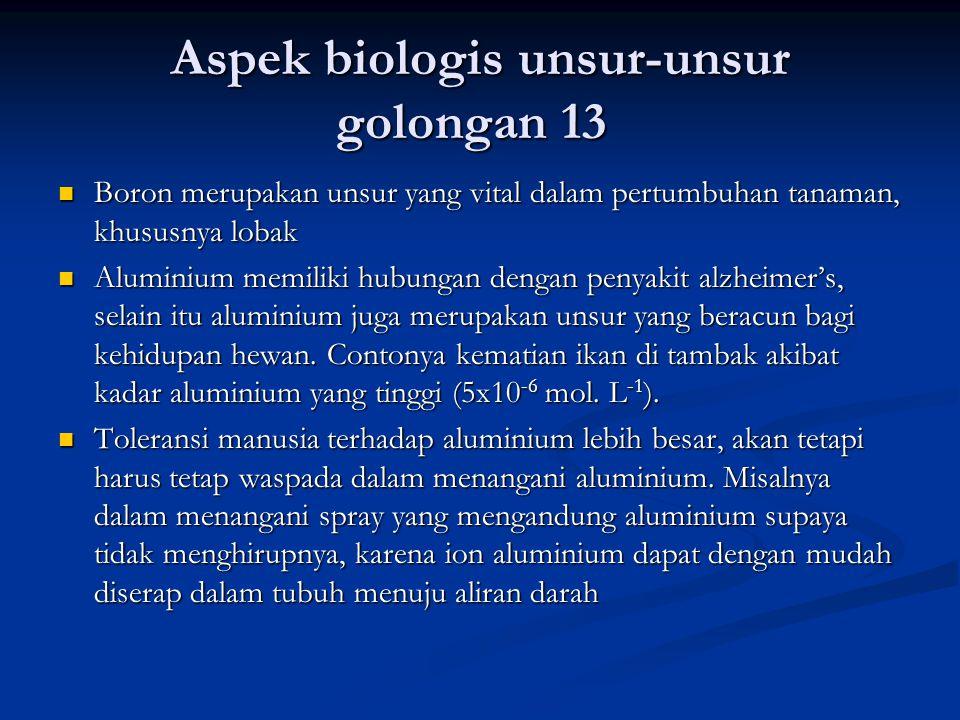 Aspek biologis unsur-unsur golongan 13