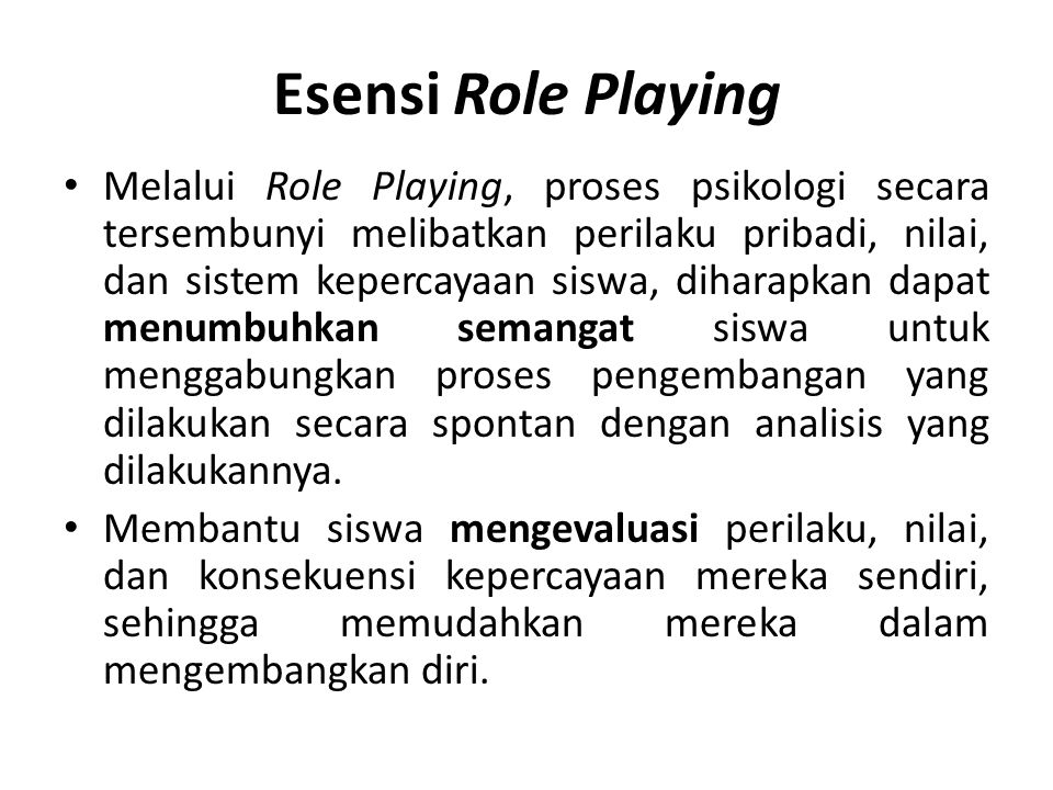 Esensi Role Playing