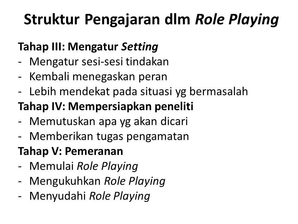 Struktur Pengajaran dlm Role Playing