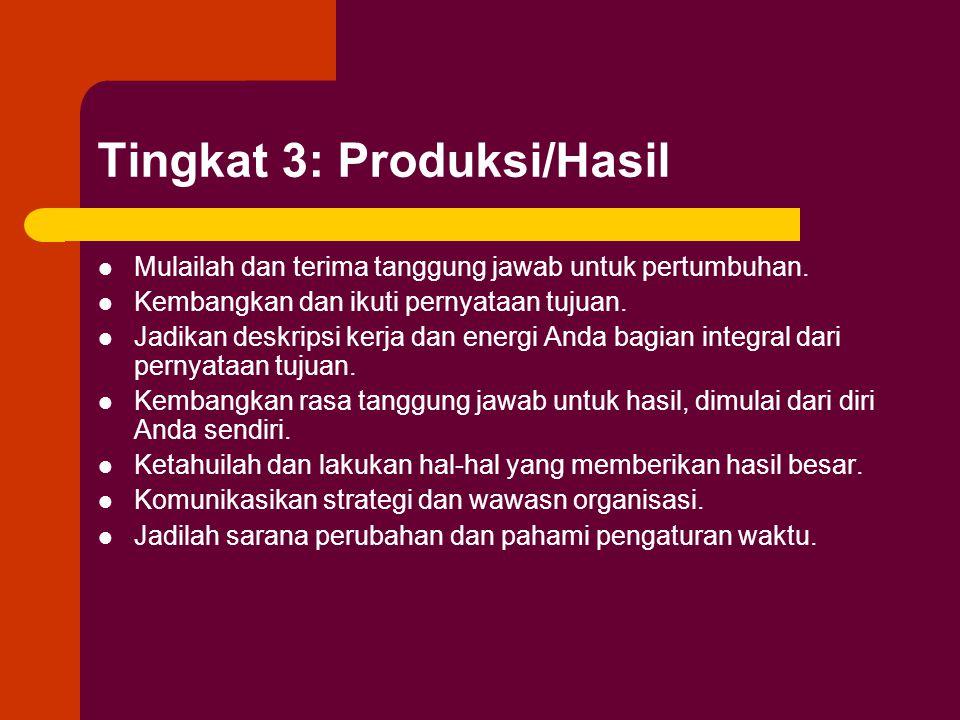 Tingkat 3: Produksi/Hasil