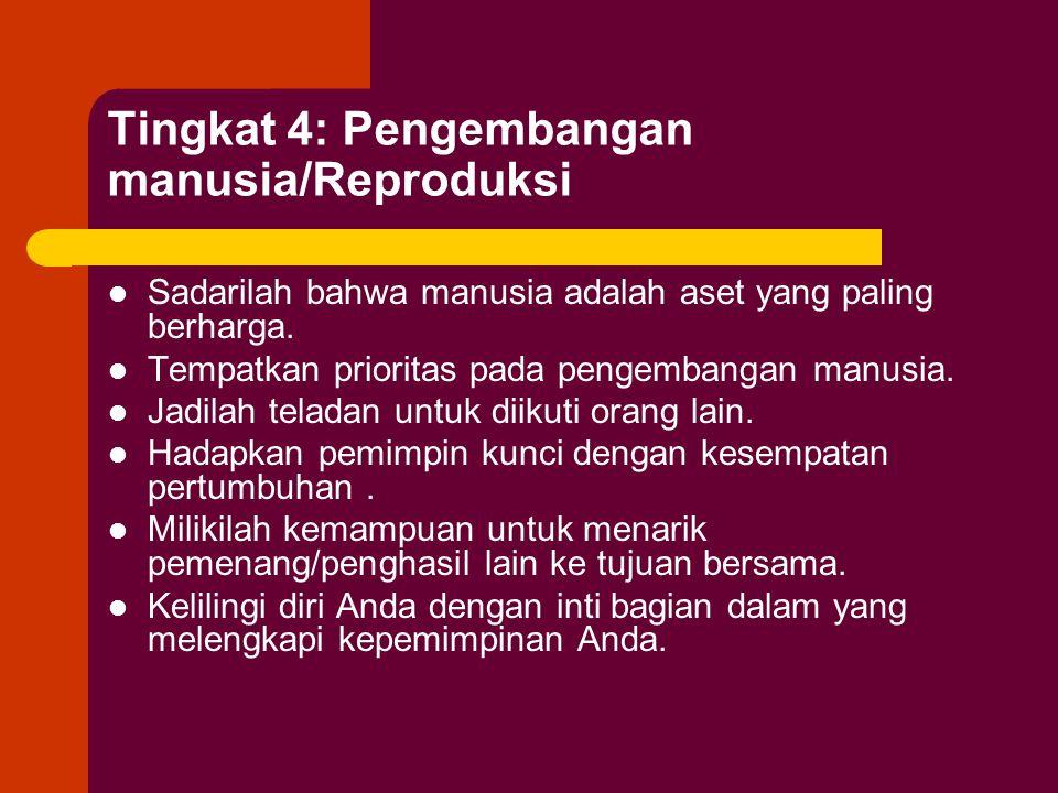 Tingkat 4: Pengembangan manusia/Reproduksi