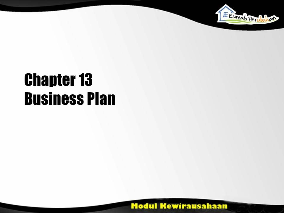 Chapter 13 Business Plan